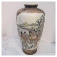 Vintage Porcelain Hand Painted Chinese Vase with Two Scenes