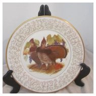 Vintage Don Whitlatch Gorham Limited Edition Decorator Plate Ruffed Grouse