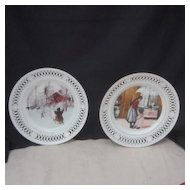 Vintage Pair of Porcelain Decorator Plates from Bing & Grondahl Denmark