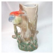 Ceramic Bird and Tree Vase Made in Japan