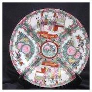 Oriental Decorator Plate Rose Medallion