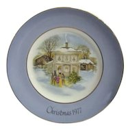 "Avon 1977 Christmas Plate ""Carollers in the Snow"""