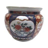 Hand Painted Gold Imari Bowl c1960's Blue & Orange