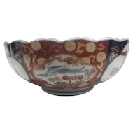Hand Painted Gold Imari Bowl from Japan