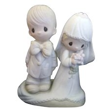 """Precious Moments Bride and Groom 1979 """"The Lord Bless You and Keep You"""""""