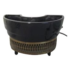 Black Ceramic TV Light/Planter c1950 by Capri of California