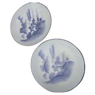 Two Small Blue & White Bowls with Oriental Design