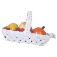 Capodimonte Basket Filled with Fruit