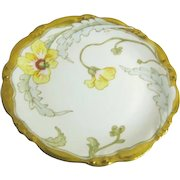Hand Painted Gilded Edge Floral Plate/Charger from Limoges France