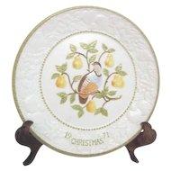 Partridge in Pear Tree Christmas Plate by Metlox Potteries
