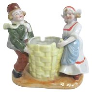 Gold Castle Dutch Boy and Girl with Basket Ceramic Planter