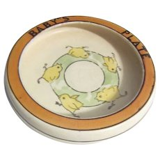 "Roseville  ""Baby's Plate"" Bowl with Chicks"