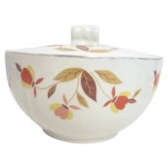Jewel Tea Autumn Leaves Pattern Lidded (Grease) Drippings Jar