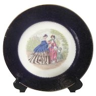 Imperial Charger/Cabinet Plate by Salem Ladies in Godey's Fashion