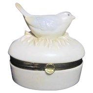 Ceramic Bird on Nest Hinged Box