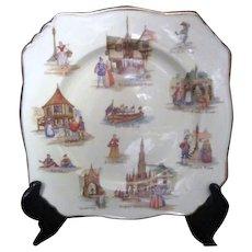 English Royal Winton Grimwades Old English Markets Plate
