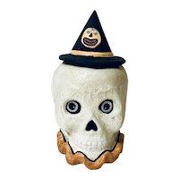 Bethany Lowe Halloween Skeleton Skull Candy Box Decoration