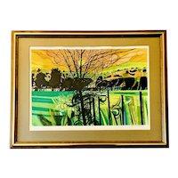 Original Garrick Palmer Signed Limited Ed Lithograph Landscape Print Framed 1970's