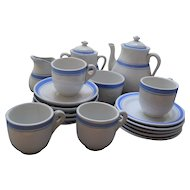 Child's Antique American Blue Banded Coffee Service, c. 1891