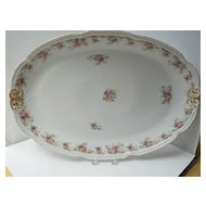Large Antique French Limoges Porcelain Platter