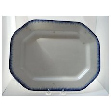 Leeds Pearlware Octagonal Platter, c.18th-early19th C.