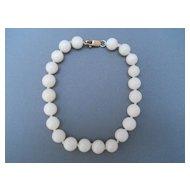 Vintage White Coral Bracelet