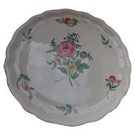 French Faience Charger/Platter Luneville Old Strasbourg Rose
