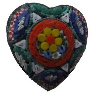 Vintage Heart Shaped Mosaic Pin