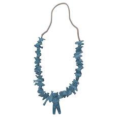 Faux Turquoise Fetish Necklace