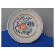 Vintage French Pottery plate, c. 30-40's