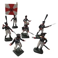 Miniature 7 Hand Painted Russian Soldiers, War 1812