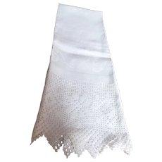 "Victorian linen towel or ""splasher"", c. 19th C."