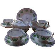 Antique New Hall Porcelain Tea Set, c. 1800