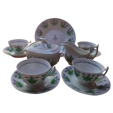 Antique New Hall Porcelain Tea Set, c. 1800
