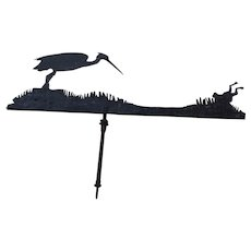 Weathervane, Heron and Frog Motif, early 19th C.