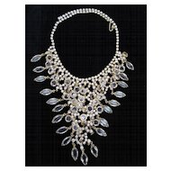 Beautiful Bib Necklace of Austrian Crystal and Rhinestones, c. 1950's