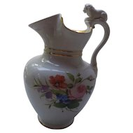Bing & Grondahl pitcher w/lid and bisque lion, early