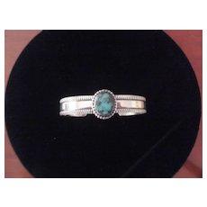 Navajo Turquoise/Sterling Bracelet