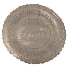 Cup Plate, Ft.  Meigs, Wm. H. Harrison
