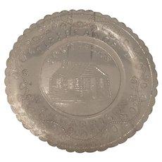 Cup Plate, Ft.  Meigs, Wm. H. Harrison