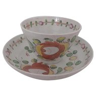Gaudy Dutch Cup & Saucer, King's Rose