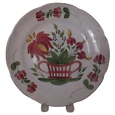 Vibrant Old French Faience plate, c. 19th C.