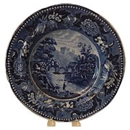 Beautiful Cobalt Romantic Staffordshire Soup