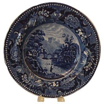 Beautiful Cobalt Romantic Staffordshire Soup