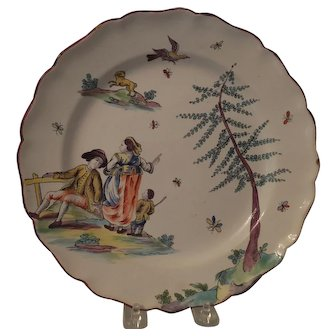 Rare 18th C. Italian faience plate
