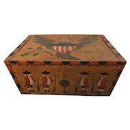 Great Folk Art Box with Revolutionary War Figures