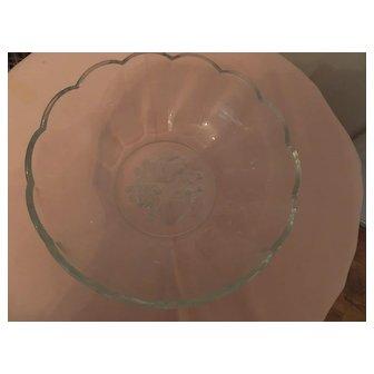 Beautiful Val St. Lambert bowl, c. 1950's