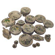 Rare French faience child's set, 19th C.