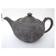 Antique Wedgwood Black Basalt teapot, circa 1759 - 1859