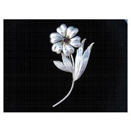 Handsome Sterling floral brooch from the 1950's